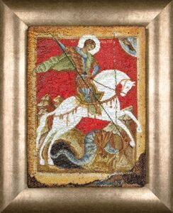 498 Икона Святой Георгий и дракон (Icon St. George and the Dragon)
