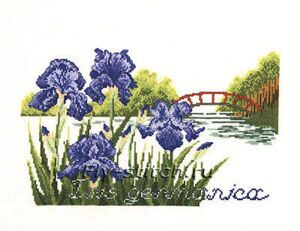 12-303 Цветы у моста (Bridge/flowers)